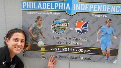 Vero Boquete, cuando estuvo en Philadelphia Independence (2011)