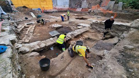 Vista general de la excavación en el Carril dos Fornos