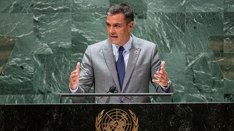 Pedro Sánchez, ante la Asamblea General de la ONU