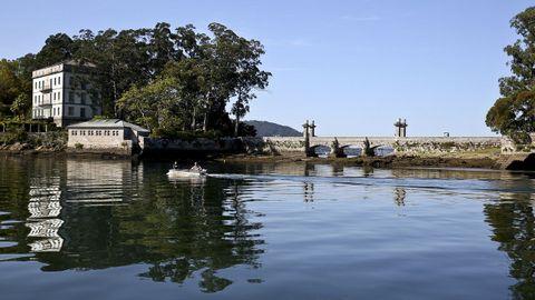 Isla de San Simón, en la ría de Vigo.