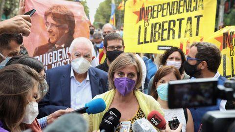 Manifestaciones en Barcelona contra la detención de Puigdemont