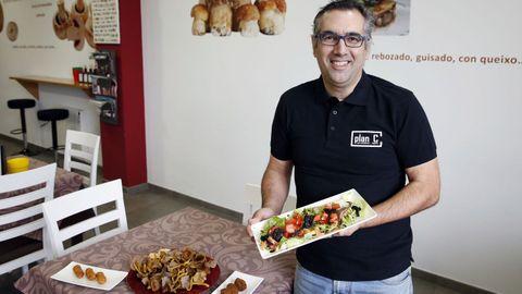 Alejandro Mínguez es divulgador del mundo de las setas y ha tenido un restaurante especializado en ellas