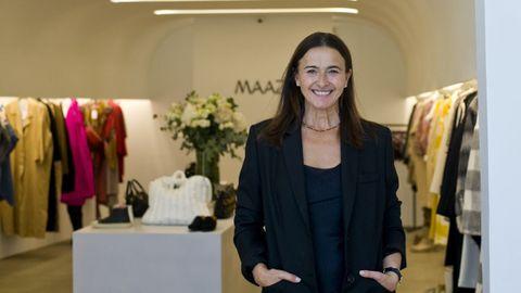 Marian Fernández Orive en su tienda del número 12 de la calle Teresa Herrera
