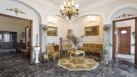 Salón de la casa situada en Ciudad Jardín a la venta por 1,7 millones.