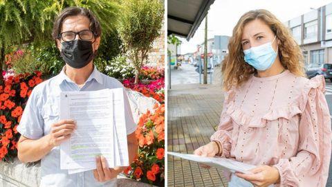 Fernando Espasandín, de Vimianzo, y Andrea Reborido, de Coristanco, son dos de los afectados