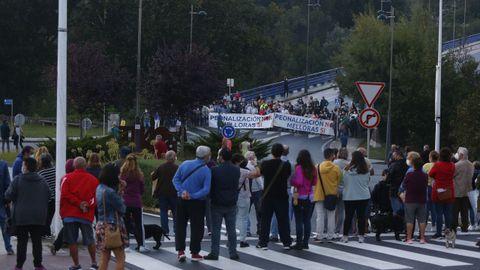 Manifestación en Monte Porreiro (Pontevedra) contra el plan del Concello para restringir el tráfico