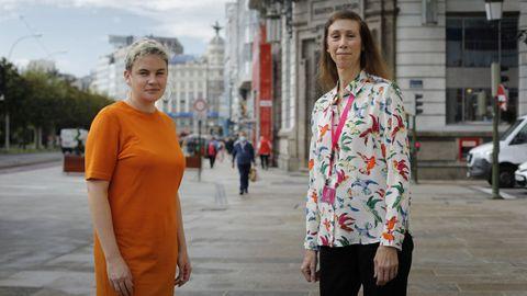 La ponentes Kelly Moore (de la neoyorquina Cornell University) y Hazel Gold (de Emory University).