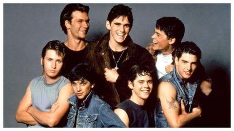 El joven elenco de «Rebeldes» (1983), un grupo de actores del que saldría un buen número de estrellas.