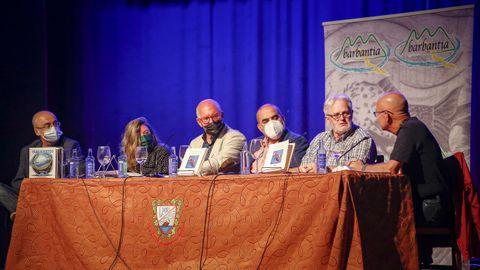 Acto de Barbantia en Noia, presentación del libro de Xosé Monteagudo