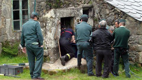 Imagen de archivo del dispositivo que retiró el cuerpo de Antonio García del pozo de la casa familiar.