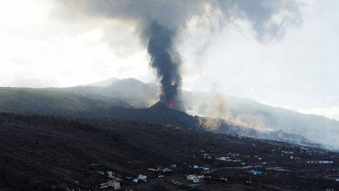 El volcán de La Palma, esta mañana