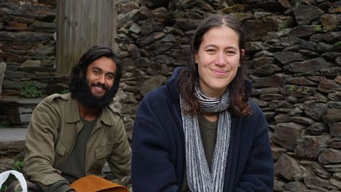 Thomas y Stacey, holandeses de 23 y 30 años, llegaron hace dos semanas a Ernes
