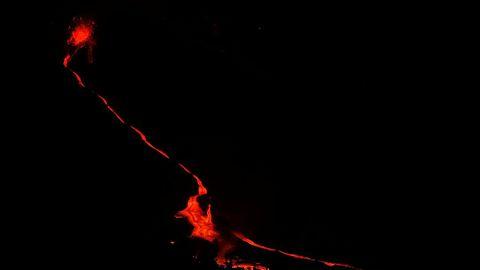 Colada de lava del volcán Cumbre Vieja, en La Palma