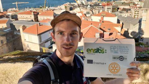 Anatole Batard, estudiante francés que cursa un Erasmus en Vigo
