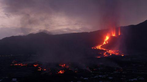 La erupción del volcán de La Palma, vista desde Todoque