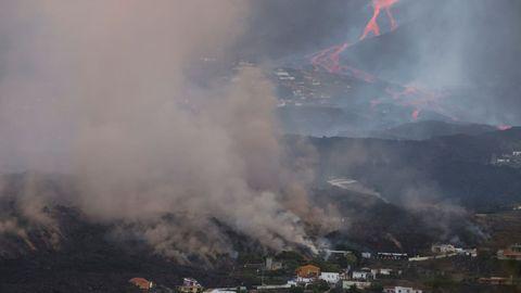 La erupción del volcán de La Palma vista desde Todoque