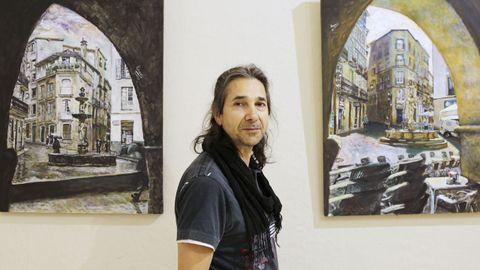 El artista Romar expone en Espazo Xove de Ourense