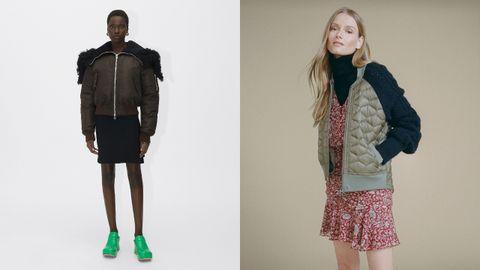 Los chaquetas bómber de Bottega Veneta y Veronica Beard