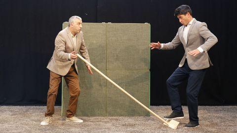 Presentación del espectáculo «A parábola do angazo», que se estrena este fin de semana en el FIOT de Carballo.