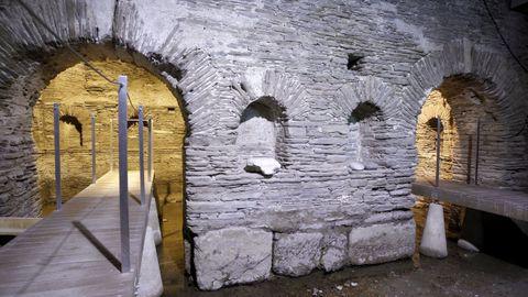 Termas romanas en el interior de un balneario en Lugo.