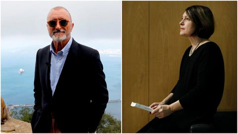 Los escritores Arturo Pérez-Reverte y Clara Usón