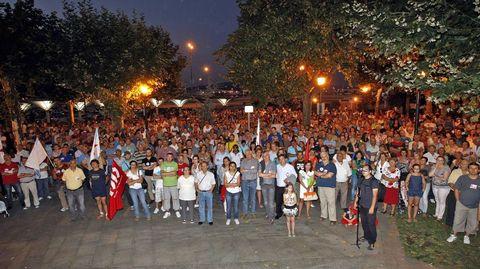 Movilización a favor de la flota cefalopodera en Marín en el 2013