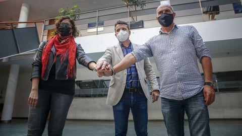 Dorres Torrado, José Ramón Romero y Carlos Rodríguez Muñiz