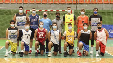La plantilla del Calvo Basket Xiria, ayer en un entrenamiento