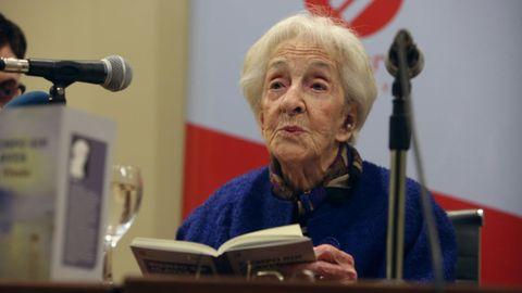 Ida Vitale, durante la presentación del poemario en Montevideo, el pasado 23 de septiembre.