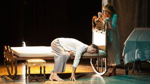 La compañía Manolo Alcántara en la representación de «Deja vu» el pasado fin de semana.