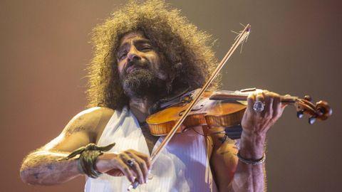 El violinista Ara Malikian, este verano en Santiago.