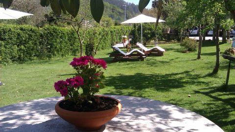 El jardín es una de las cosas más atractivas de Casa Videira