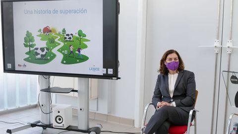 La máximo responsable del Grupo Leche Río, Carmen Lence, en la presentación