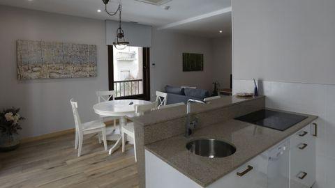 Casa Miño, en la calle Ervedelo, cuenta con doce apartamentos