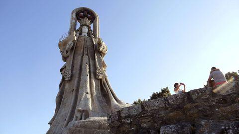 La Vírgen de la Roca, en Baiona