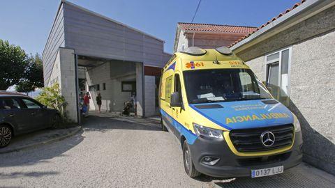Las urgencias extrahospitalarias del PAC de Baltar, en Sanxenxo, este agosto