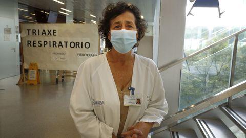 A enfermeira Chelo Rodríguez, que foi coordinadora de vacinación contra o covid no recinto feiral de Pontevedra