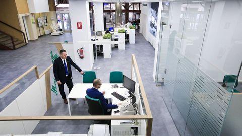 Una de las oficinas de Caixa Rural en la ciudad de Lugo