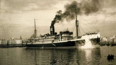 El vapor Infanta Isabel construído en 1912 que podía llevar hasta 1.500 pasajeros