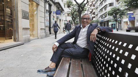 El ourensano José Nogueira en la calle del Paseo