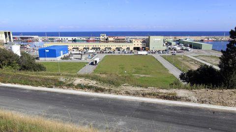Vista de una zona de O Berbés, en Burela.