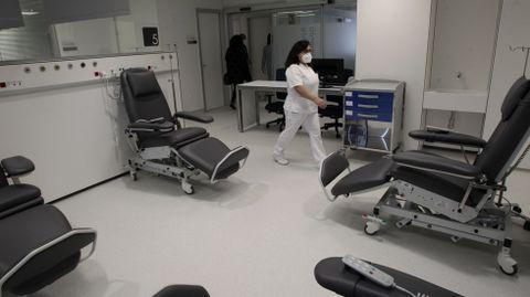 Uno de los espacios del nuevo hospital de día de oncohematología de Monforte