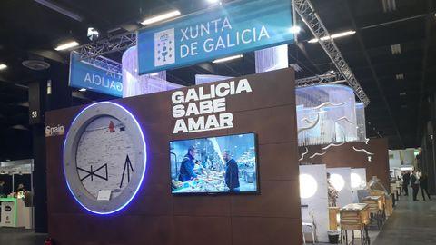 El puesto de «Galicia sabe amar» en la feria Anuga, en Colonia (Alemania)