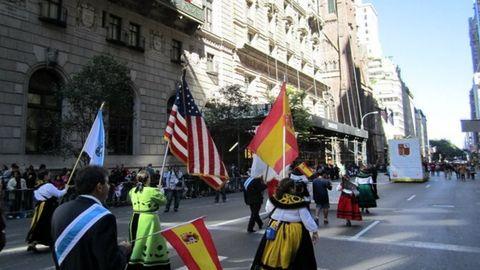 Imagen del desfile del Día de la Hispanidad por las calles de Nueva York en el 2010