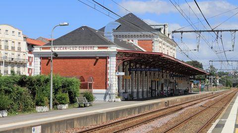 Estación de tren de San Juan de Luz - Ciboure, en una imagen de archivo