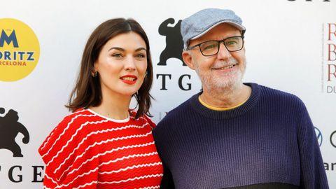 La actriz Marta Nieto, junto con el director Juanjo Giménez.