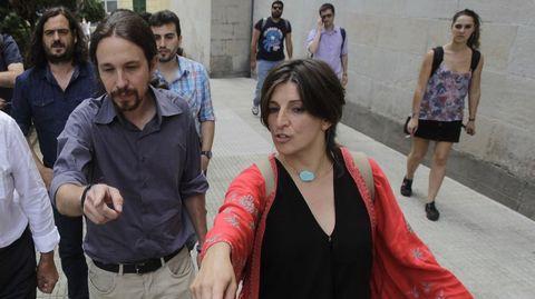 Iglesias y Díaz en un acto de campaña.