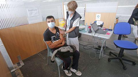 El sábado 2 de octubre fue el último día de vacunación contra el covid en el recinto ferial de Pontevedra