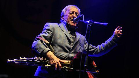 Paddy Moloney, en el festival de Ortigueira del 2014.