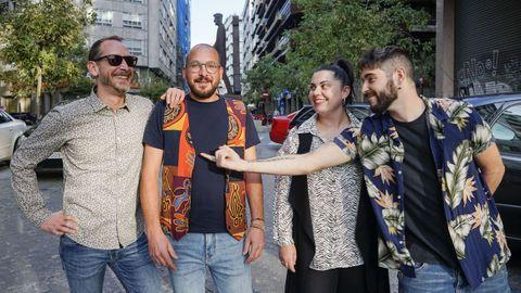 Rogelio, Cheve, Ángela y Dani son parte del grupo Los Camachuelos